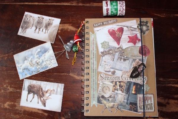 materialen Kerst notitieboek