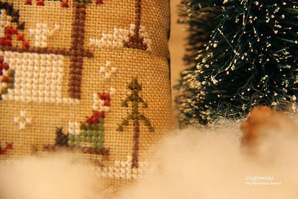 cross stitch Hot Cocoa Kareltje op de slee
