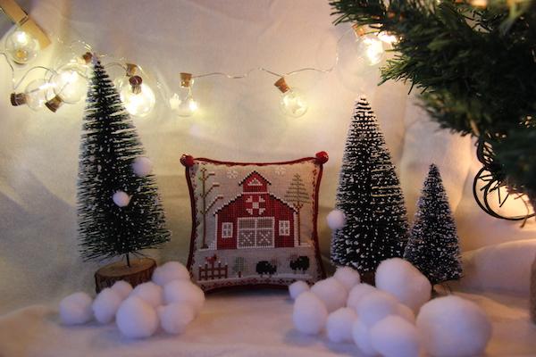 cross stitch Farmhouse Christmas Baa Baa Black Sheep