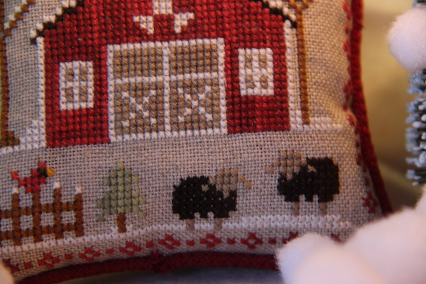 cross stitch Farmhouse Christmas zwarte schapen