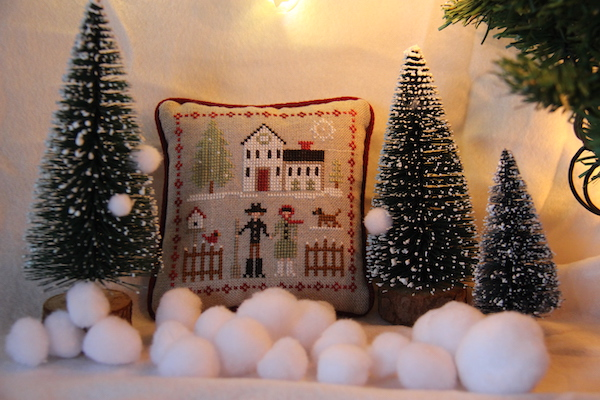 cross stitch Farmhouse Christmas Farm Folk