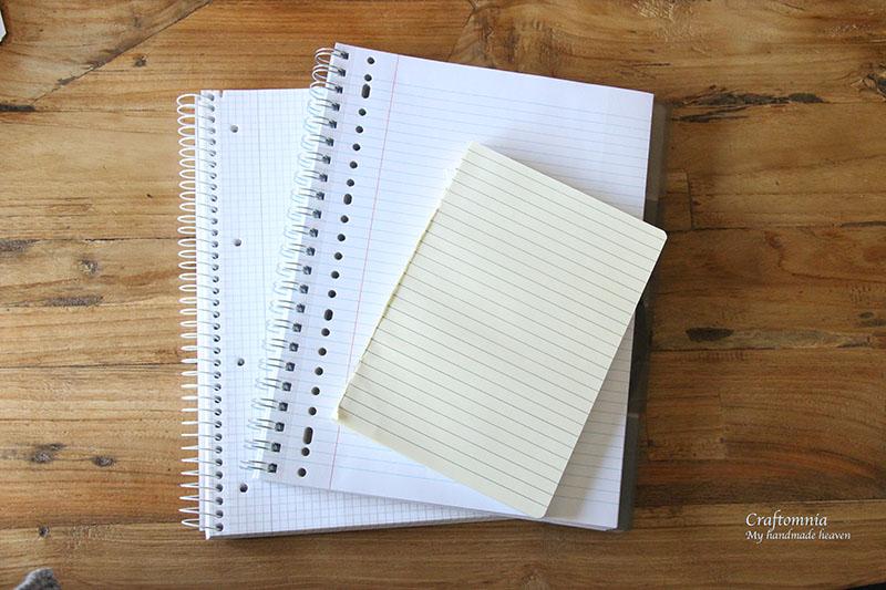 papier uit eigen voorraad om to do lijstjes van te maken