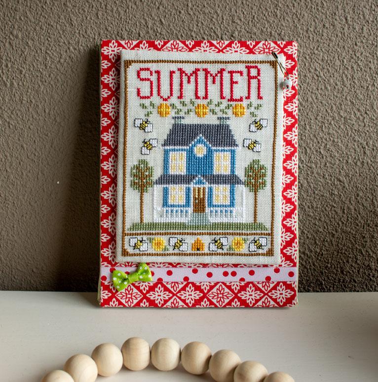 Summer House Trio: zomers borduurpatroon