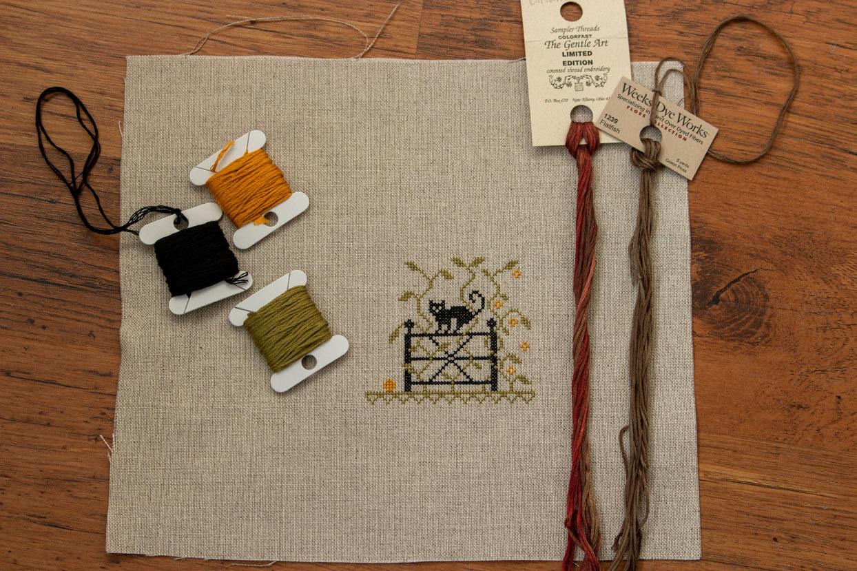 Handwerkproject: The Witch's Garden op linnen met DMC